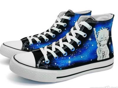 娅莹Q版志龙帆布鞋 夜光松糕底高帮手绘鞋明星周边EADB2D - 86元
